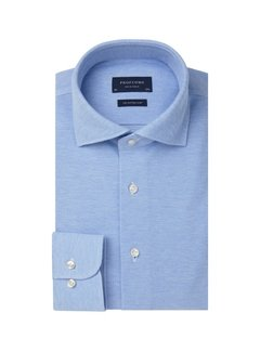 Profuomo Overhemd The Knitted Shirt Licht Blauw Melange (PP0H0A047)N