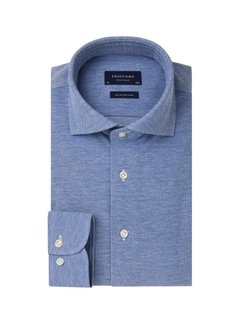 Profuomo Overhemd The Knitted Shirt Blauw Melange (PP0H0A050)
