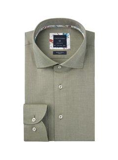 Profuomo Overhemd Slim Fit Twill Groen (PPRH3A1005)N