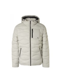 No Excess Winterjas Hooded Padded Wavy Quilted Grijs (97630815SN - 017)N
