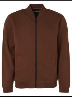 No Excess Vest Full Zip Jacquard Roest Bruin (97100935 - 092)