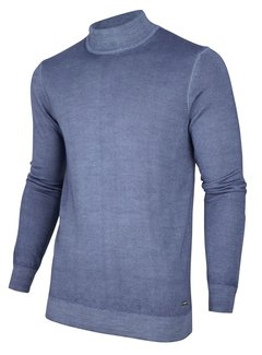 Cavallaro Napoli Pullover Turtolo Mid Blauw (118205010 - 650000)
