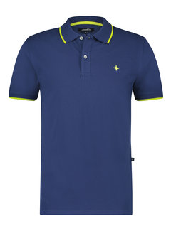 Haze&Finn Polo Classic Tipping (MC14-0300-Twilight Blue - Lime Punch)