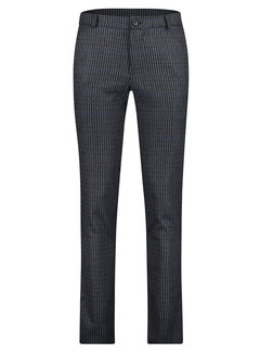 Haze&Finn Chino Italian Pants Ruit Navy/Bruin (MC14-0541-Mouse Grey Navy Brown Check)