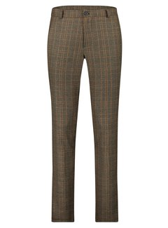 Haze&Finn Chino Italian Pants Ruit Bruin (MC14-0541-Brown Pumpkin Check)