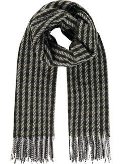 Haze&Finn Sjaal Squares Black/Grey (MC14-0907-Black Grey)