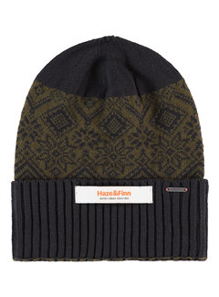 Haze&Finn Beanie Muts Nordic Forest Night/Antraciet (MA14-0904-Forest Night-Anthracite)