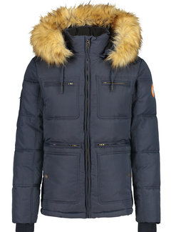 Haze&Finn Winterjas Expedition Navy (MU14-1009-Dark Navy)