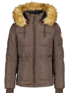 Haze&Finn Winterjas Expedition Zwart (MU14-1009-Delicioso)