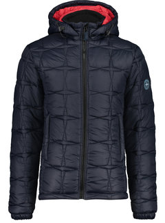 Haze&Finn Winterjas Puffer Navy (MC14-1031-Dark Navy - Lollipop)