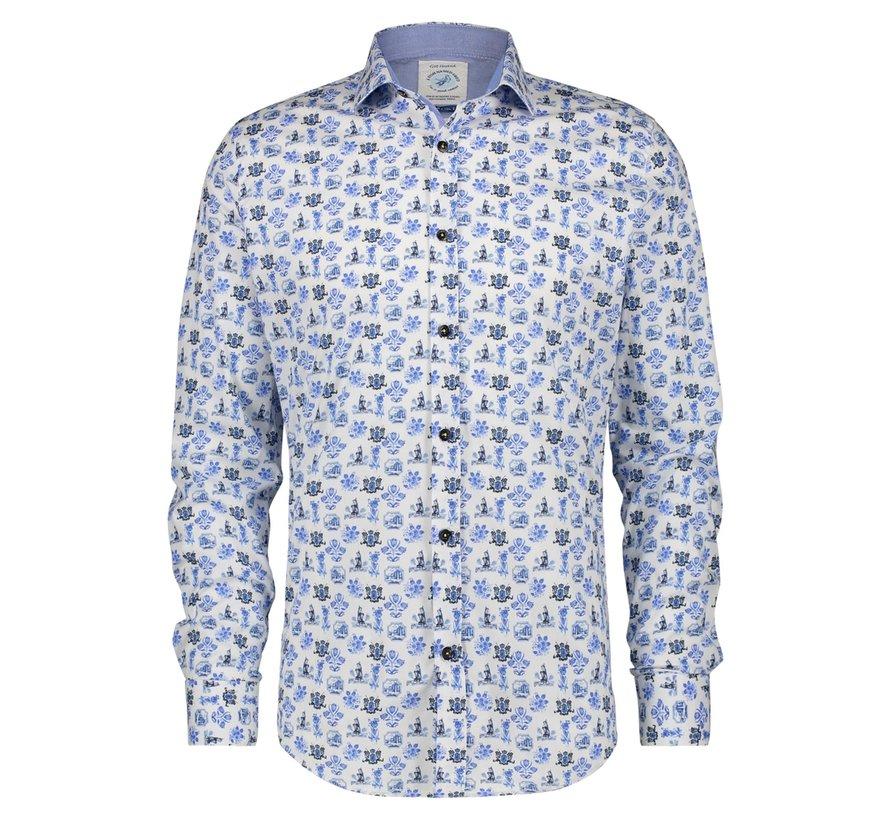 Overhemd Delft Blue (21.01.001)