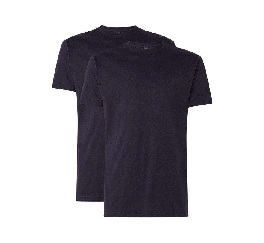T-shirt Virginia 2-Pack Ronde Hals Zwart (3129)
