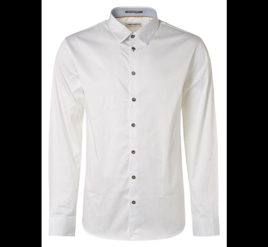 Overhemd  Stretch Satin Weave Wit (N4305D - 010)N