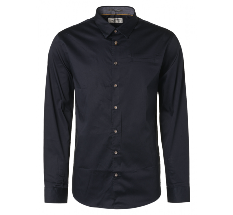 Overhemd  Stretch Satin Weave Navy (N4305D - 037)N