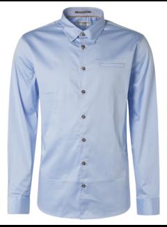 No Excess Overhemd  Stretch Satin Weave Licht Blauw (N4305D - 166)N