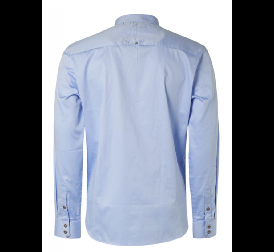 Overhemd  Stretch Satin Weave Licht Blauw (N4305D - 166)N