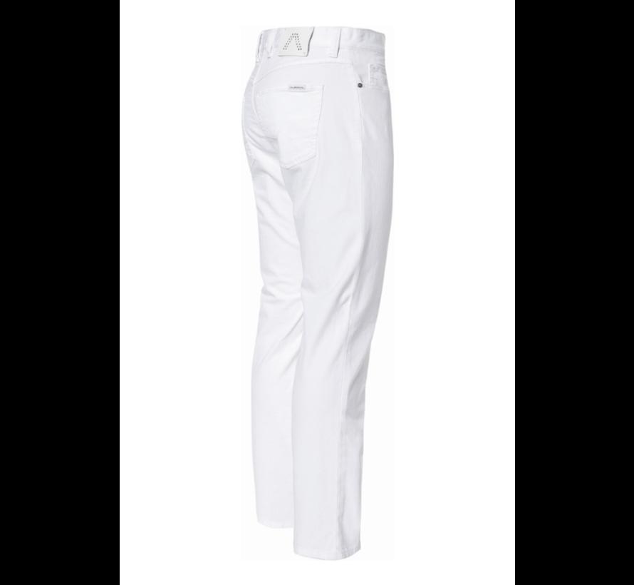 Jeans Pipe Regular Slim Fit T400 Wit (4817 - 1975 - 100)N