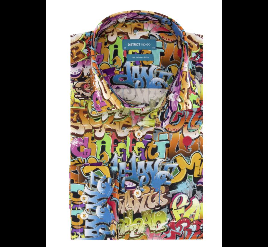 Overhemd Graffiti Dance Multicolor (7.02.025.007.382)
