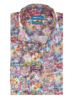 District Indigo Overhemd Coloured Bricks Multicolor (7.02.025.004.316)