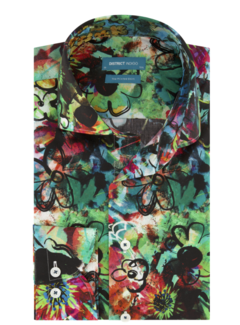 District Indigo Overhemd Graffiti Flower Print Multicolor (7.02.025.005.310)