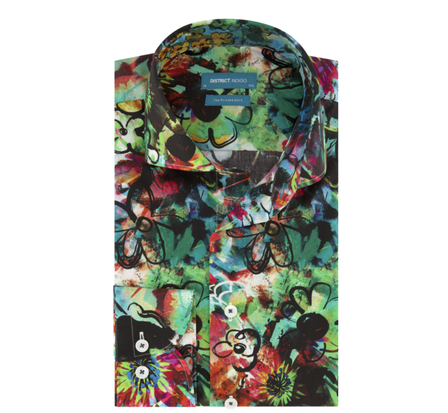 Overhemd Graffiti Flower Print Multicolor (7.02.025.005.310)