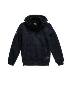 Superdry Hooded Vest Expedition Gemêleerd Navy (M2010497A - OQT)