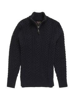 Superdry Half-Zip Trui Jacob Henley Kabel Navy (M6110041A - APX)
