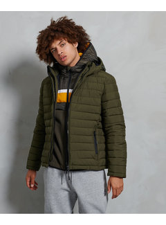 Superdry Hooded Winterjas Fuji Groen (M5010201A - ZC3)