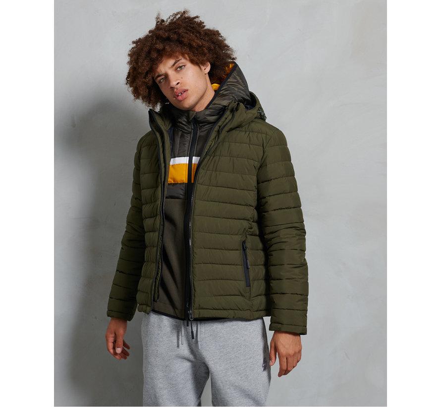 Superdry Hooded Winterjas Fuji Groen (M5010201A ZC3