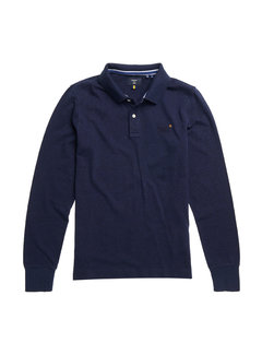 Superdry Longsleeve Polo Classic Pique Navy (M1110093A - PI6)