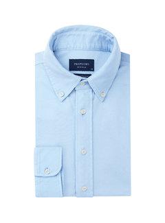 Overhemd The Knitted Shirt Garment Dyed Licht Blauw (PP0H0A1205)N