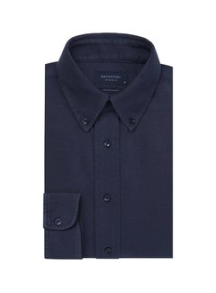 Overhemd The Knitted Shirt Garment Dyed Navy (PP0H0A1203)N