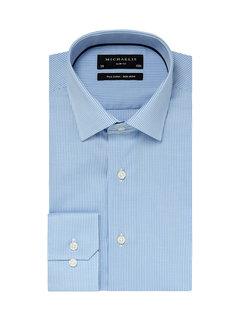Michaelis Overhemd Strijkvrij Slim Fit Check Blauw (PM0H000015)N