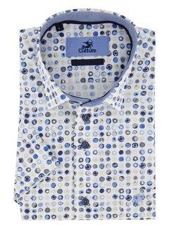 Culture Overhemd Korte Mouw Print Wit (215250 - 33)