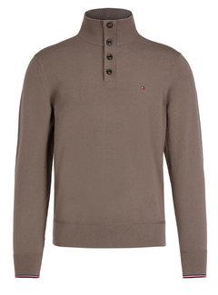 Tommy Hilfiger Half-Zip Sweater Cotton Silk Walnut (MW0MW11662 - PF7)