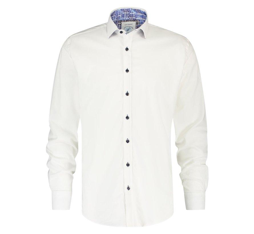 Overhemd Poplin White (21.01.036)