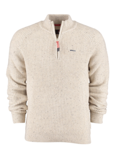 New Zealand Auckland Half Zip Sweater Wainuiora Ivory (20KN477 - 031)