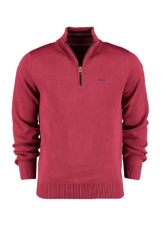 New Zealand Auckland Half Zip Sweater Waikuku Rusty Red (20KN498 - 604)