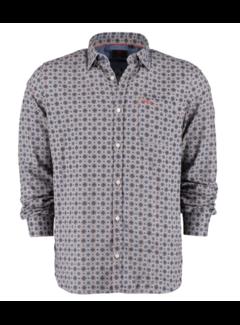 New Zealand Auckland Overhemd Hawkins Grey Melange (20KN557 - 70)