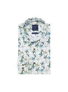Profuomo Overhemd Green Floral Print Slim Fit Groen (PPRH1A1095)