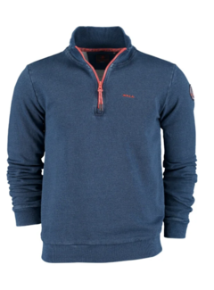 New Zealand Auckland Half Zip Sweater Waitekuri Indigo (20KN312 - 369)