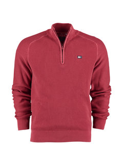 New Zealand Auckland Half Zip Trui Coromandel Rusty Red (20MW470 - 604)