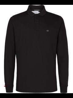 Calvin Klein Lange Mouw Polo Liquid Touch Zwart (K10K105691 - BEH)