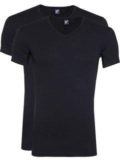 Alan Red T-shirt Oklahoma 2Pack Stretch Navy (6681N)