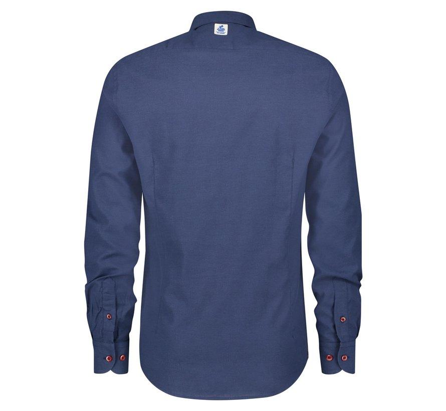 Overhemd Brushed Oxford Navy Blue (21.02.071)