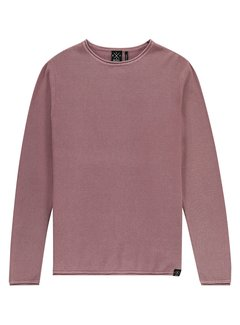 Kultivate Pullover KN Melvin Washed Rood (1801010802 - 610)
