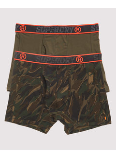 Superdry Boxershorts 2Pack Army Groen (M3100019A - W6L)
