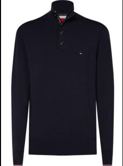 Tommy Hilfiger Half-Zip Sweater Cotton Silk Navy (MW0MW11662 - CJM)