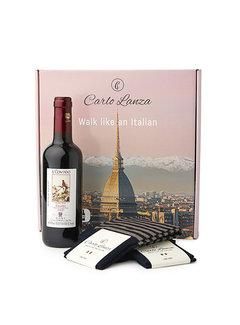 Carlo Lanza Cadeaupakket Sokken & Rode Wijn