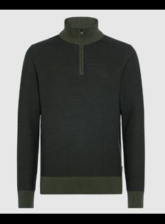 Calvin Klein Half Zip Sweater Donker Groen (K10K106359 - MRZ)